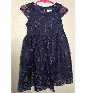 Nannette Kids Girl's Lace Blue Dress 2T